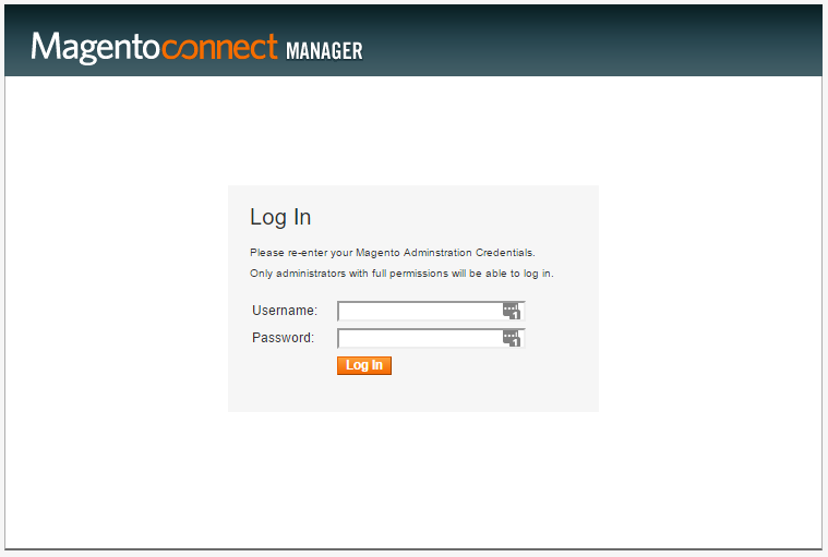 magento_connect_login