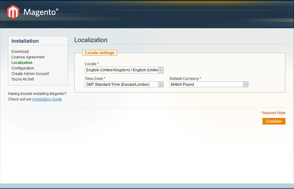 How to install Magento - step 2