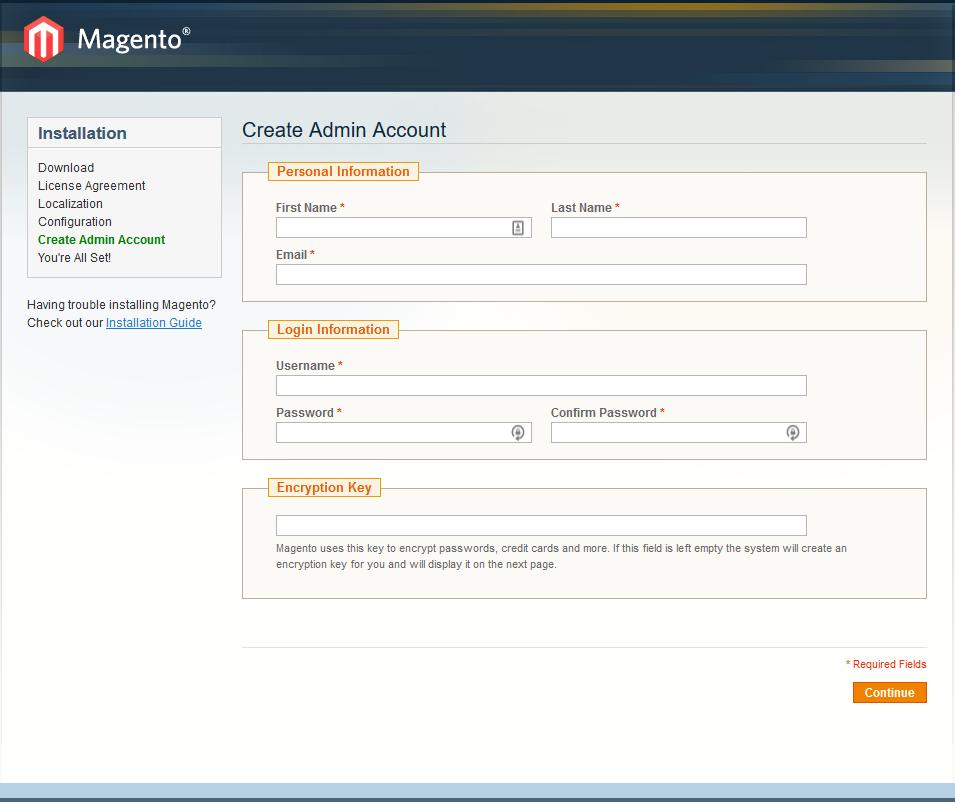 How to install Magento - step 4