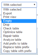 phpmyadmin_empty_table