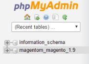 phpmyadmin_select_db