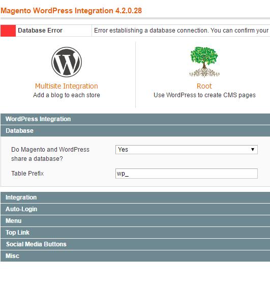 magento_wordpress_database_settings