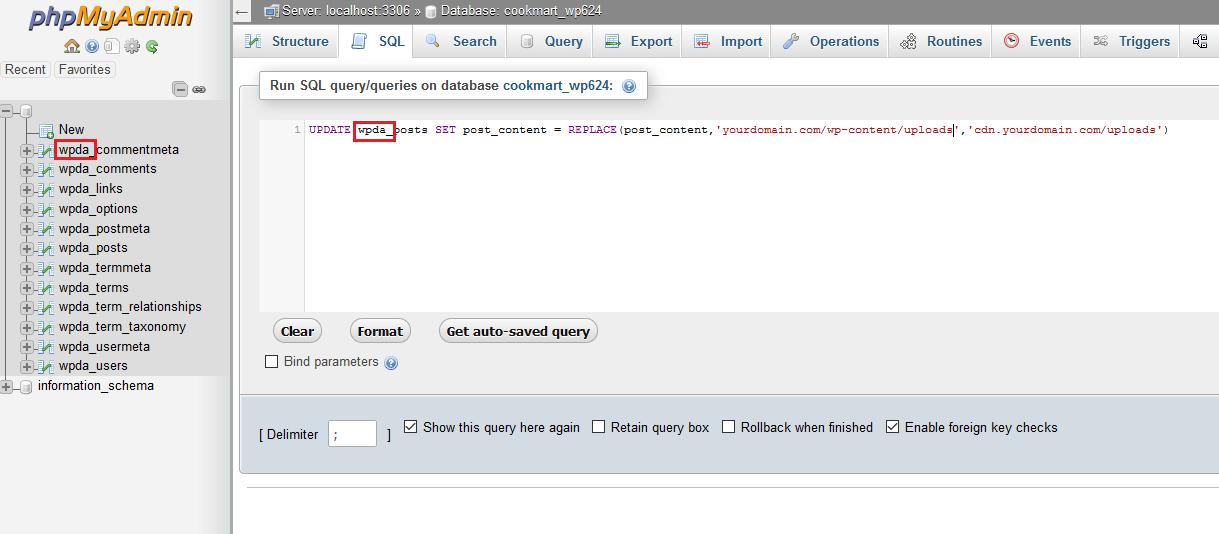 phpmyadmin change wordpress upload location